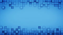 Blue squares and free space 3D render loopable animation 4k UHD (3840x2160) Stock Footage