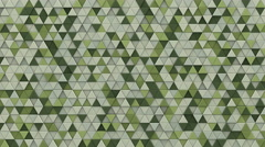 Pale green extruded triangles background 3D render loopable 4k UHD (3840x2160) Stock Footage