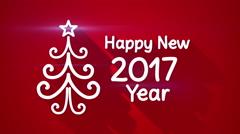 Happy new 2017 year greeting loop 4k (4096x2304) Stock Footage