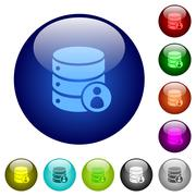 Color Database owner glass buttons Stock Illustration