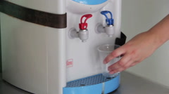 Using Water Dispenser Stock Footage