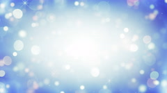 Falling circle bokeh lights loopable holiday background 4k (4096x2304) Stock Footage
