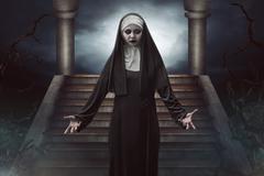 Scary Devil Nun Stock Photos
