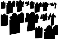 Old cemetery graves Stock Illustration