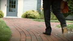 Business Man Returning Home Stock Footage