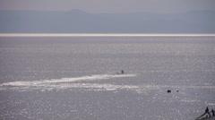 Jet ski on the sea. Stock Footage