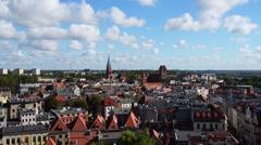 Torun (Thorn) is city in Poland, on Vistula Rive Stock Footage