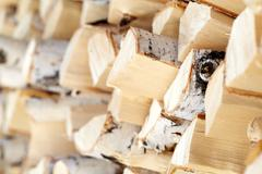 Close-up of firewood in stock Stock Photos