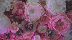 Decoration Made of Artificial Flowers Stock Footage