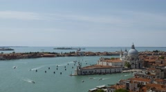 Panorama from Campanille tower in Venice,Italy Stock Footage