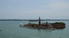 San Giorgio Maggiore island Basilica from San Marco square Stock Footage