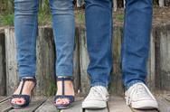 Man woman hispster fashion, leg couple love feelings Stock Photos