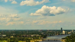 Riga is capital and largest city of Latvia Stock Footage