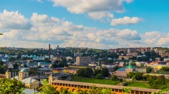 Panorama of Smolensk, Russia Stock Footage