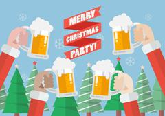 Merry christmas party Stock Illustration