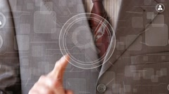 Search magnifier loupe business online communication icon Stock Footage