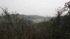 Italy Bologna Tuscany summer fields Stock Footage