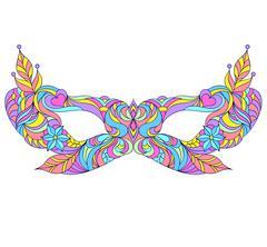 Carnival, masquerade mask. Stock Illustration