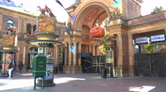 Entrance to Tivoli Gardens in Copenhagen Stock Footage