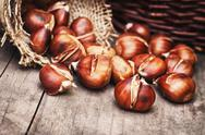 Roasted sweet chestnuts Stock Photos