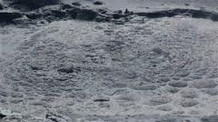 Volcanic hot mud pool Stock Footage