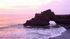 View of Pura Batu Bolong Stock Footage