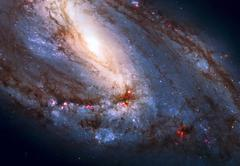 Messier 66 is an spiral galaxy in the constellation Leo. Stock Photos