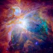 Hubble panoramic view of Orion Nebula reveals thousands of stars Stock Photos