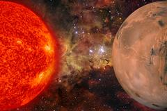 Solar System - Mars. It is the fourth planet from the Sun. Kuvituskuvat