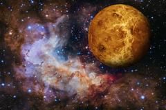 Solar System - Venus. Elements of this image furnished by NASA. Stock Photos