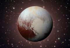 Solar System - Pluto. Dwarf planet in the Kuiper belt. Kuvituskuvat