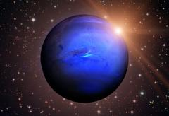Solar System - Neptune. It is the eighth and farthest planet from the Sun. Kuvituskuvat