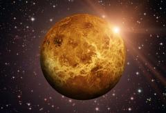 Solar System - Venus. It is the second planet from the Sun. Kuvituskuvat