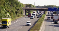 Highway busy  transport Germany, Europe 4K Stock Footage