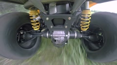 ATV all-terrain vehicle off-road Stock Footage