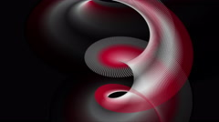 Powerful animation with particle stripe object in slow motion, 4096x2304 loop 4K Stock Footage