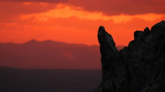 Timelapse from the Kokino, megalithic observatory in Macedonia. Blur background. Stock Footage