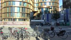 Modern Building in Central Copenhagen Stock Footage