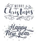 Happy New Year. Holiday Vector Illustration Stock Illustration