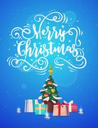 Happy New Year. Holiday Vector Illustration Stock Illustration