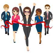 Business Group Race Success Concept Stock Illustration