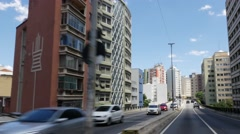 Driving in elevated highway (also know as Minhocao) in São Paulo, Brazil. Stock Footage