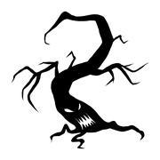 Evil halloween face tree Piirros