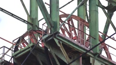 Mine rotating copra Stock Footage