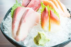 Raw fresh sashimi Stock Photos