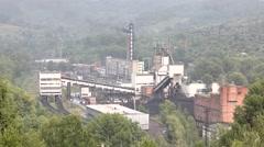 Mine Osinnikovskaya top Stock Footage