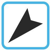 Arrowhead Left-Down Vector Icon In a Frame Stock Illustration