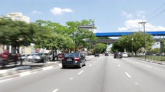 Driving in Radial Leste Avenue, Sao Paulo, Brazil Stock Footage