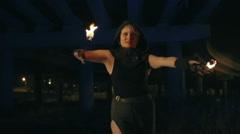 Seductive Fire Dancing Stock Footage