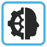 Cyborg Gear Vector Icon In a Frame Stock Illustration
